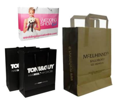branded paper mailing bags