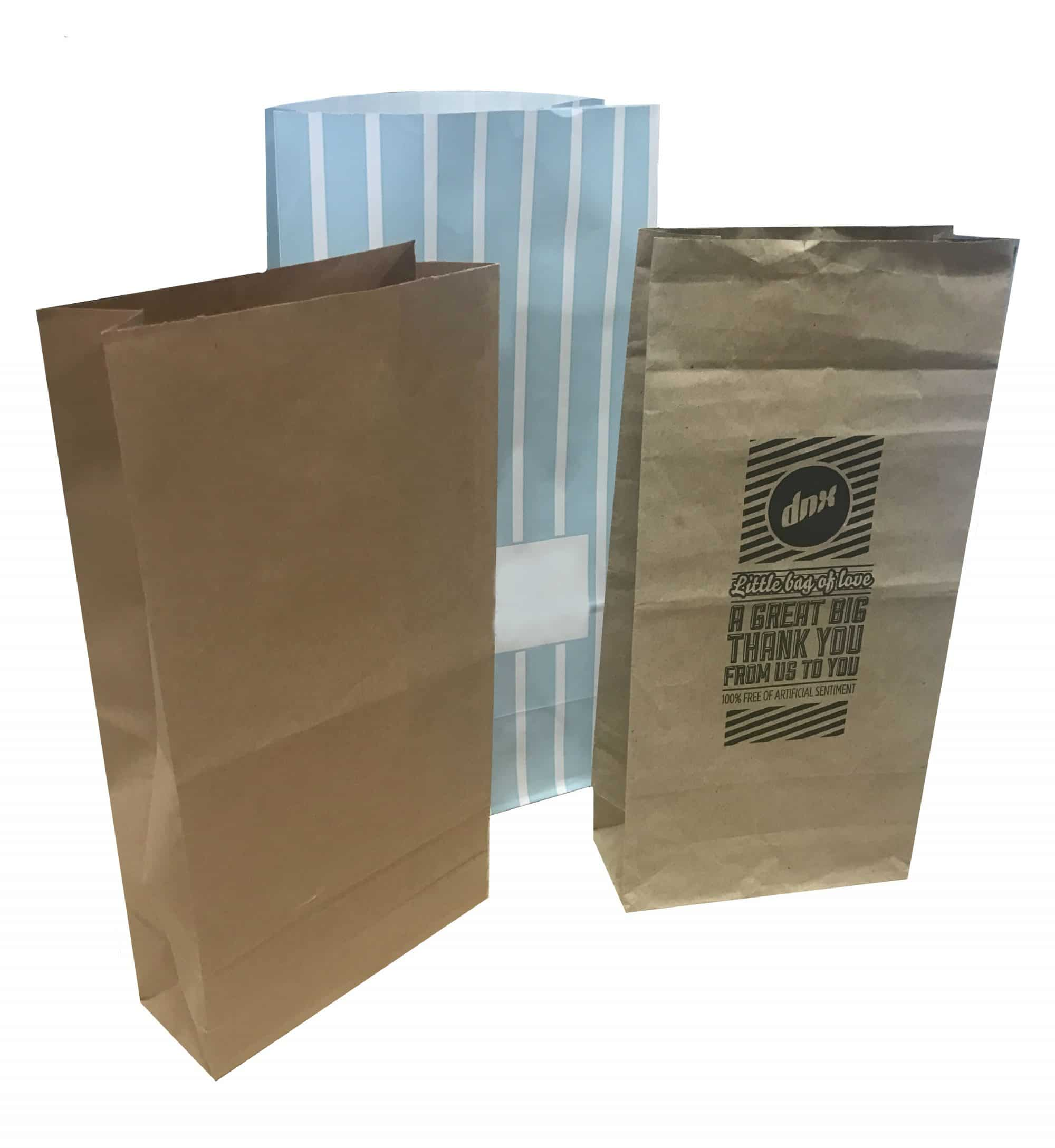 Sweet style paper bags kraft takeaway packaging