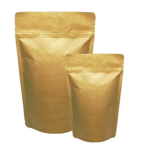 Compostable Kraft Stand Up Pouch. Eco Friendly Pouch.