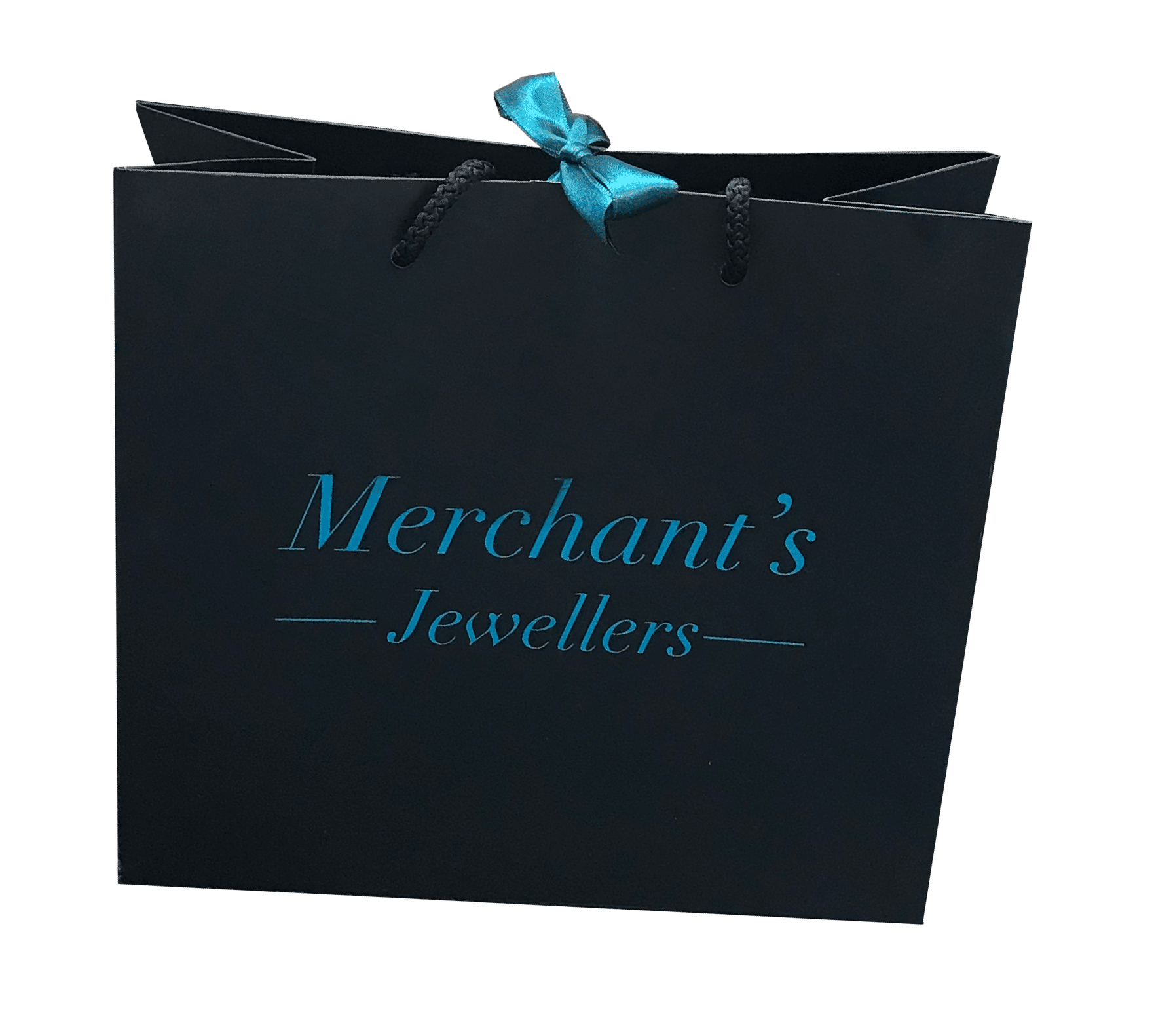 Merchants Jewellers - Luxury rope handle carrier bags. Ribbon handle paper carrier bags. Luxury boutique style bags. Gift Bags