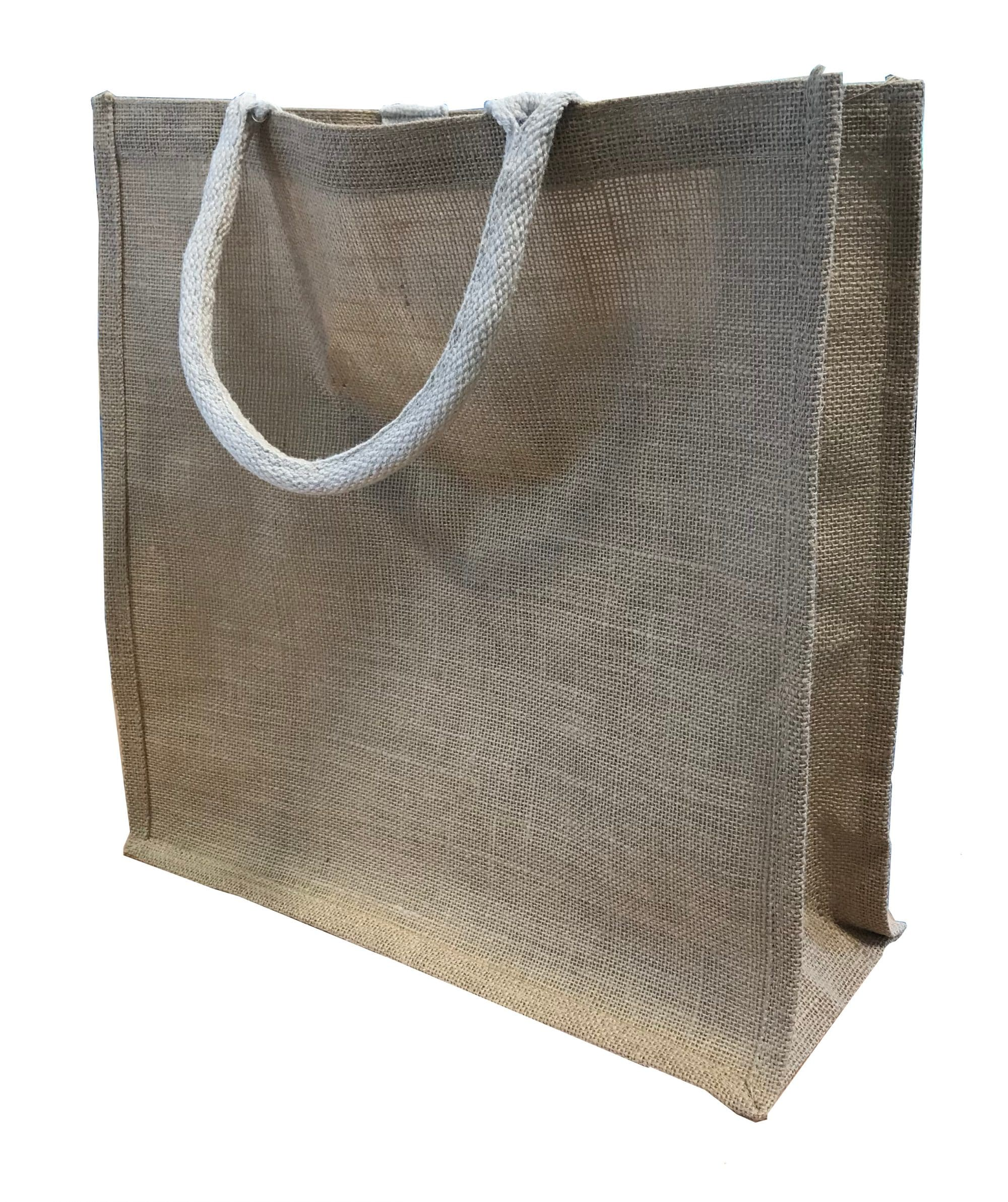 Natural Jute Bag Bag for Life re-usable shopping bag
