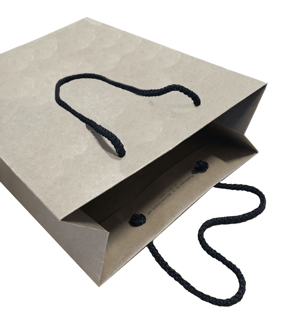 Brown Rope Handle Carrier Bag Packaging