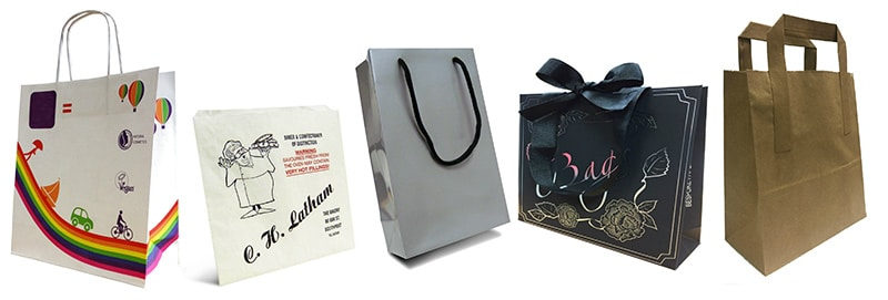 personalised paper carrier bag