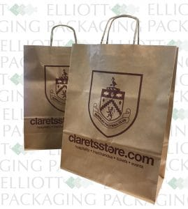 Rope Handle Paper Bags Burnley FC